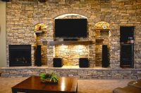 Hanover Cabinets Moose Jaw Custom Stone Wall Entertainment Cabinet