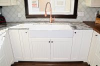 Shaker Door Painted French Porcelain Sink Kitchen