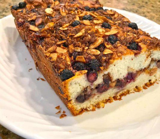Sour Cream Saskatoon Berry Coffee Cake