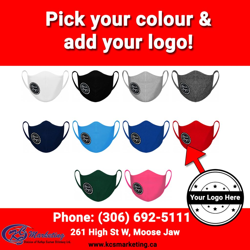 COVID Masks - Add Your Business Logo - Moose Jaw